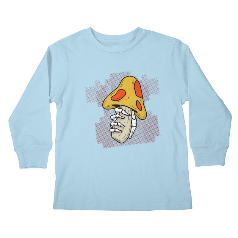 MUSHROOM KINGDOM MAGIC MUSHROOM Kids Longsleeve T-Shirt by UNDEAD MISTER