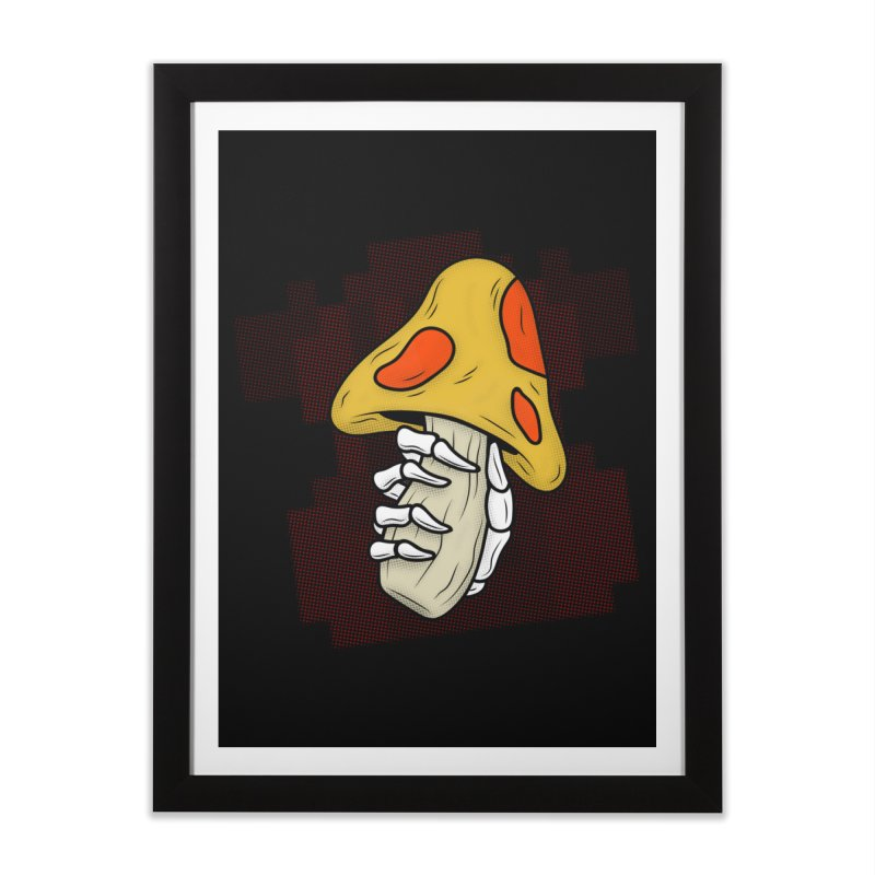 MUSHROOM KINGDOM MAGIC MUSHROOM Home Framed Fine Art Print by UNDEAD MISTER