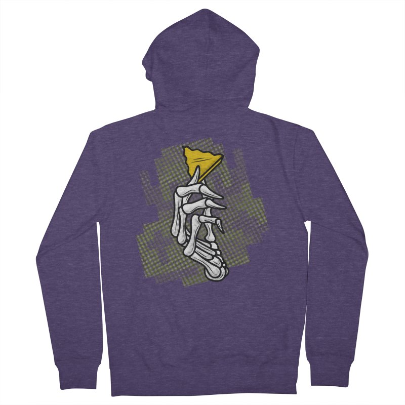 HYRULE VALUES TRIFORCE PART Men's French Terry Zip-Up Hoody by UNDEAD MISTER