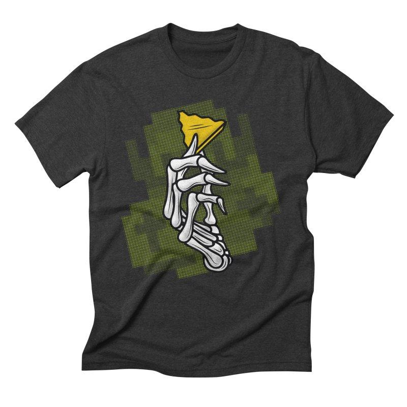 HYRULE VALUES TRIFORCE PART Men's Triblend T-shirt by UNDEAD MISTER