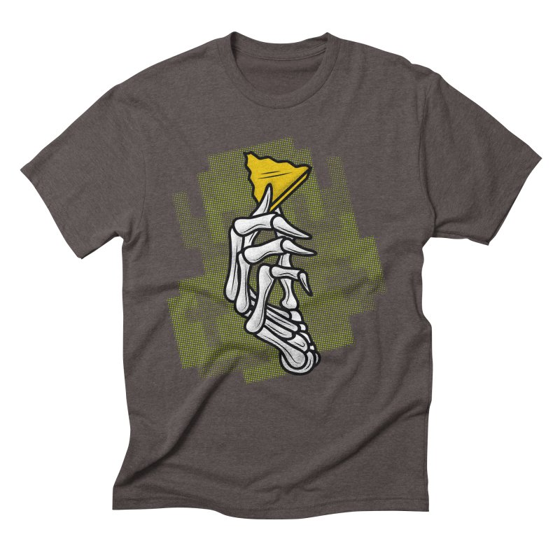 HYRULE VALUES TRIFORCE PART Men's Triblend T-shirt by UNDEAD MISTER