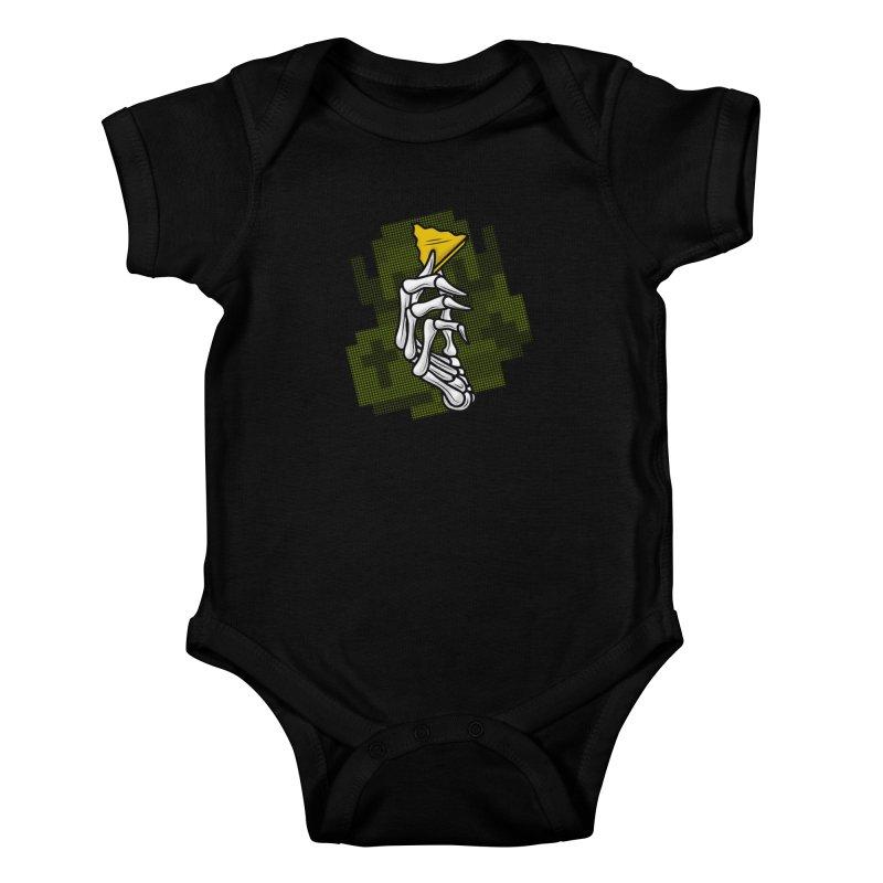 HYRULE VALUES TRIFORCE PART Kids Baby Bodysuit by UNDEAD MISTER