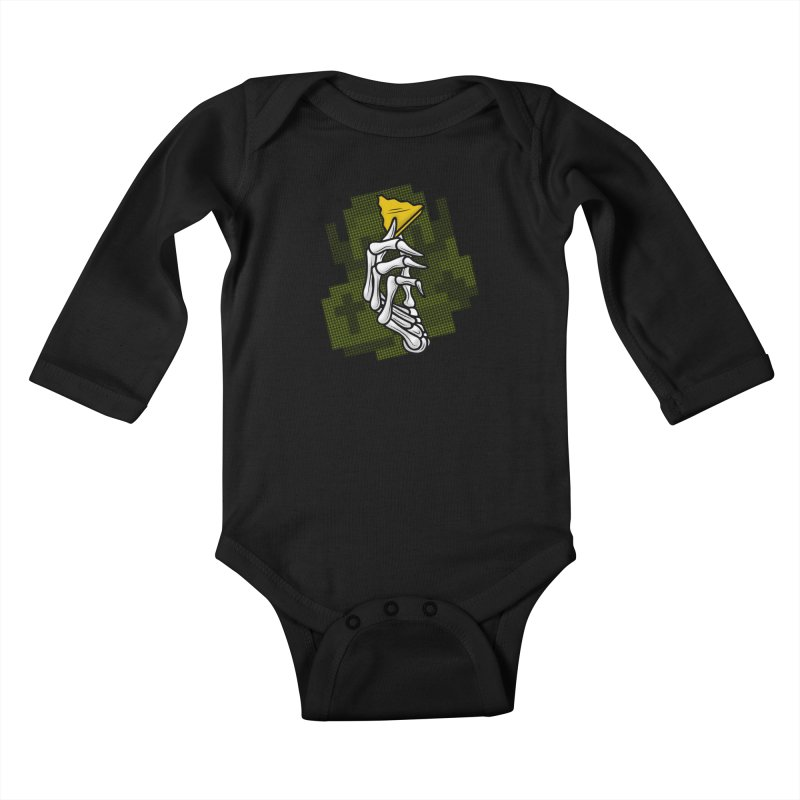 HYRULE VALUES TRIFORCE PART Kids Baby Longsleeve Bodysuit by UNDEAD MISTER