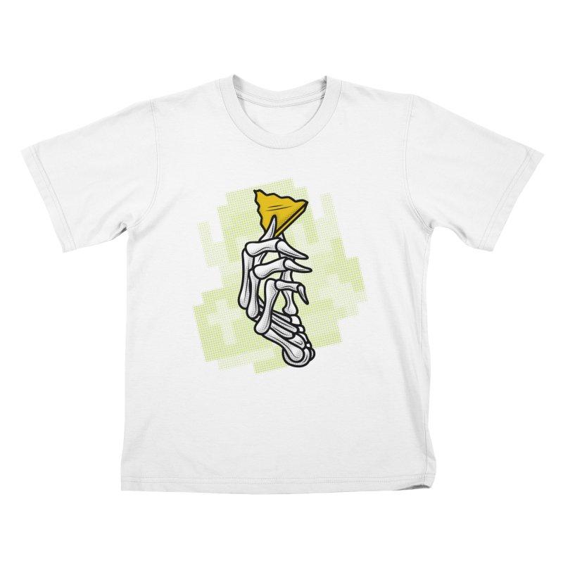 HYRULE VALUES TRIFORCE PART Kids T-Shirt by UNDEAD MISTER