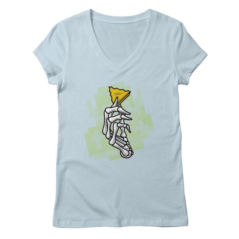 HYRULE VALUES TRIFORCE PART Women's V-Neck by UNDEAD MISTER