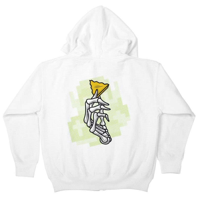 HYRULE VALUES TRIFORCE PART Kids Zip-Up Hoody by UNDEAD MISTER