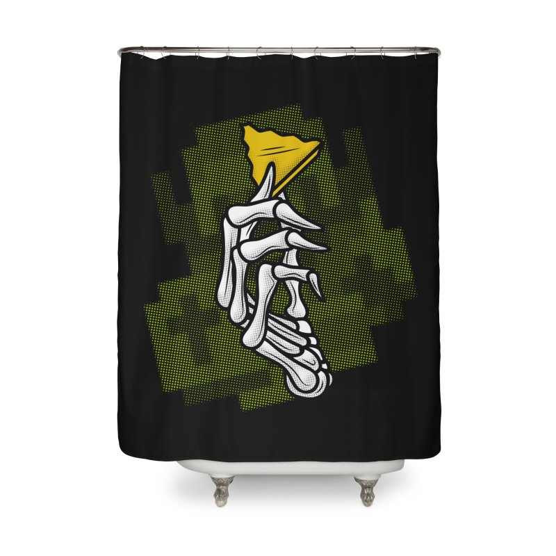 HYRULE VALUES TRIFORCE PART Home Shower Curtain by UNDEAD MISTER
