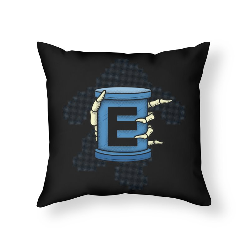 20XX ENERGY TANK Home Throw Pillow by UNDEAD MISTER