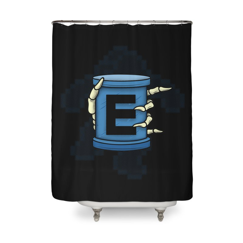20XX ENERGY TANK Home Shower Curtain by UNDEAD MISTER