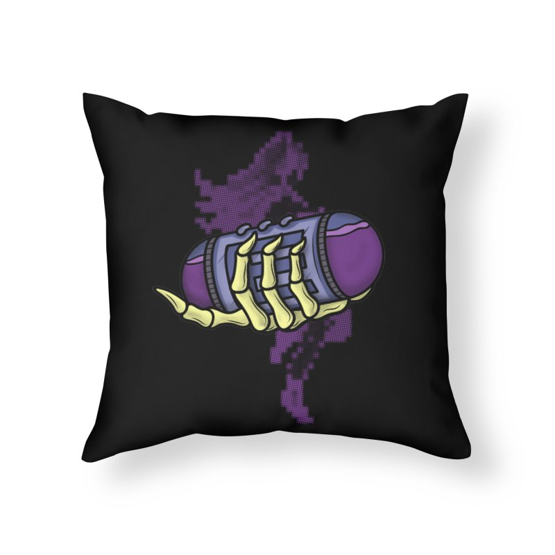 CHOZO ENERGY TANK Home Throw Pillow by UNDEAD MISTER