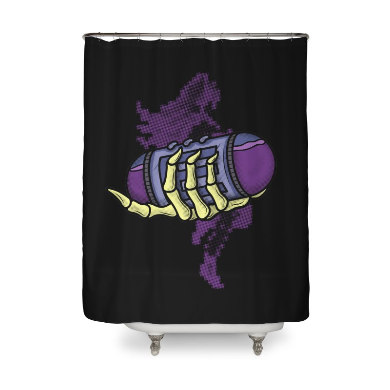 CHOZO ENERGY TANK Home Shower Curtain by UNDEAD MISTER