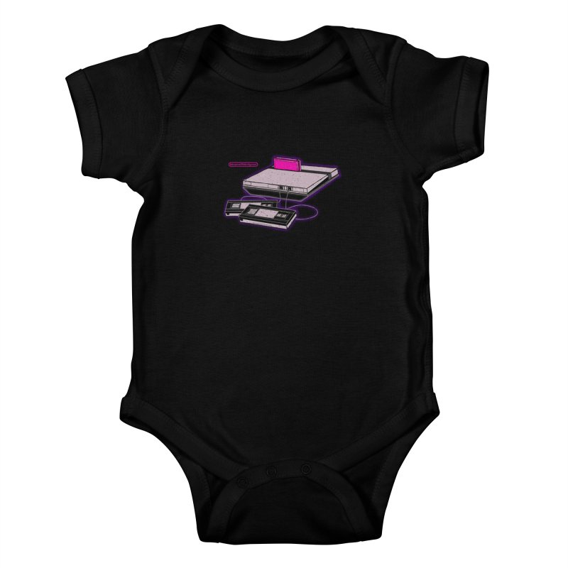 Advanced Video System Kids Baby Bodysuit by UNDEAD MISTER