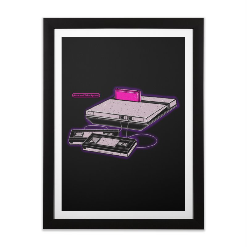 Advanced Video System Home Framed Fine Art Print by UNDEAD MISTER