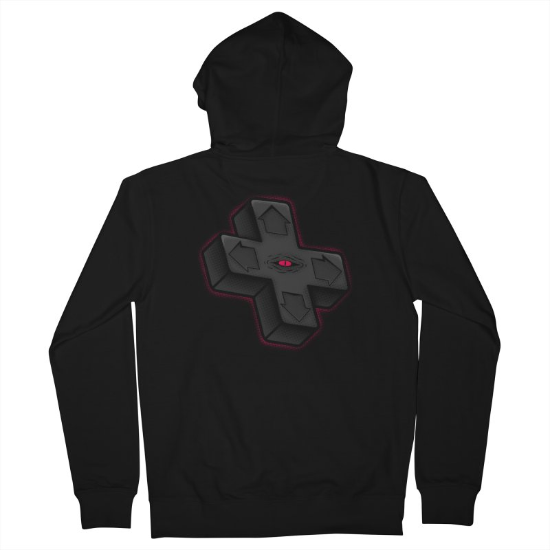 THE D-PAD FROM THE BEYOND! Men's French Terry Zip-Up Hoody by UNDEAD MISTER