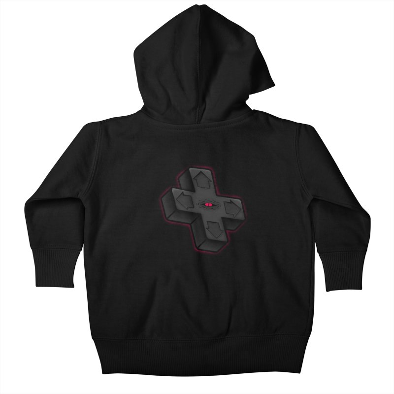 THE D-PAD FROM THE BEYOND! Kids Baby Zip-Up Hoody by UNDEAD MISTER