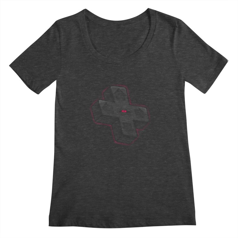 THE D-PAD FROM THE BEYOND! Women's Scoopneck by UNDEAD MISTER