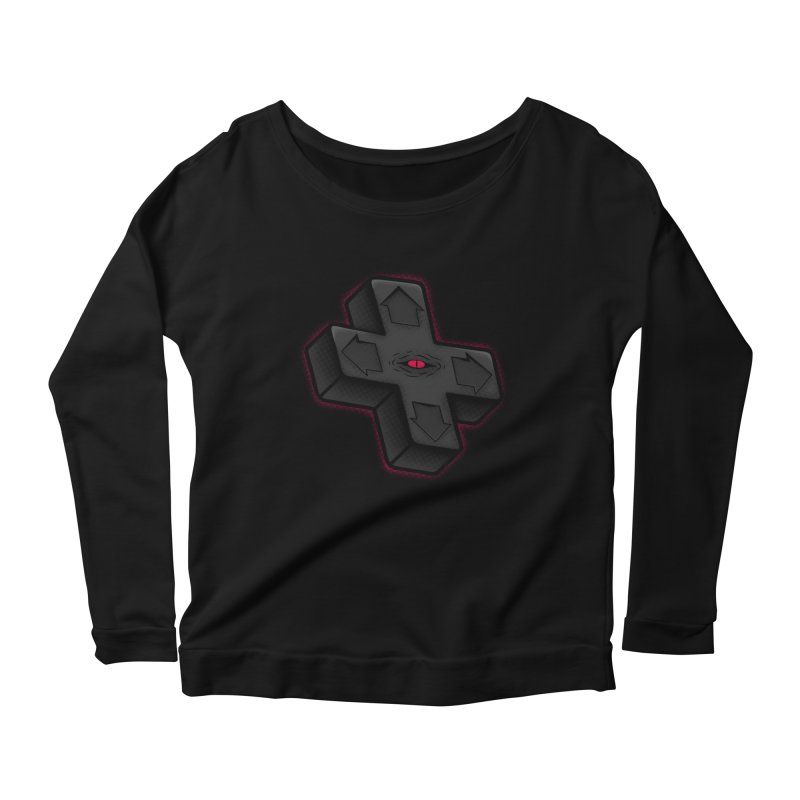 THE D-PAD FROM THE BEYOND! Women's Longsleeve Scoopneck  by UNDEAD MISTER