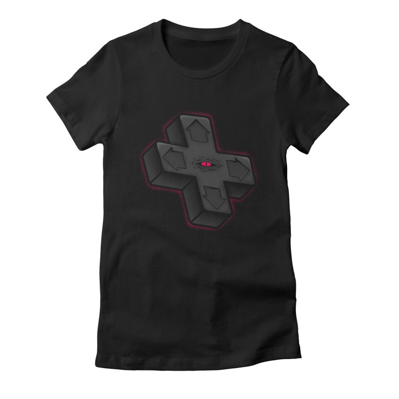 THE D-PAD FROM THE BEYOND! Women's Fitted T-Shirt by UNDEAD MISTER