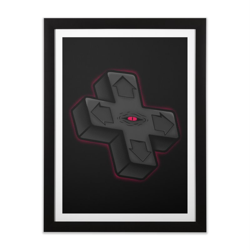 THE D-PAD FROM THE BEYOND! Home Framed Fine Art Print by UNDEAD MISTER