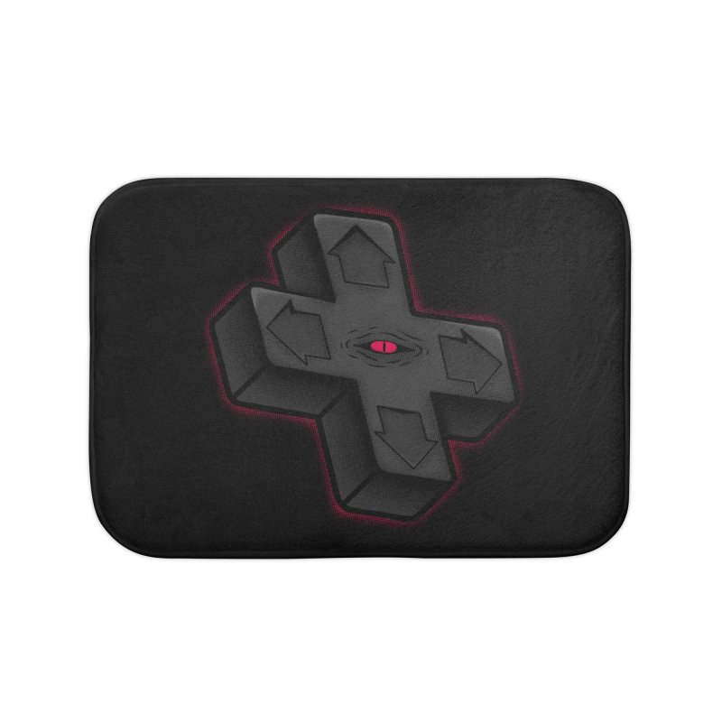 THE D-PAD FROM THE BEYOND! Home Bath Mat by UNDEAD MISTER