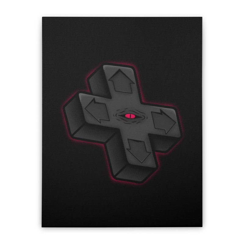 THE D-PAD FROM THE BEYOND! Home Stretched Canvas by UNDEAD MISTER