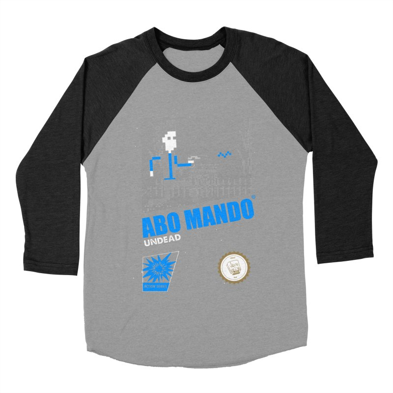 ABO MANDO Men's Baseball Triblend T-Shirt by UNDEAD MISTER