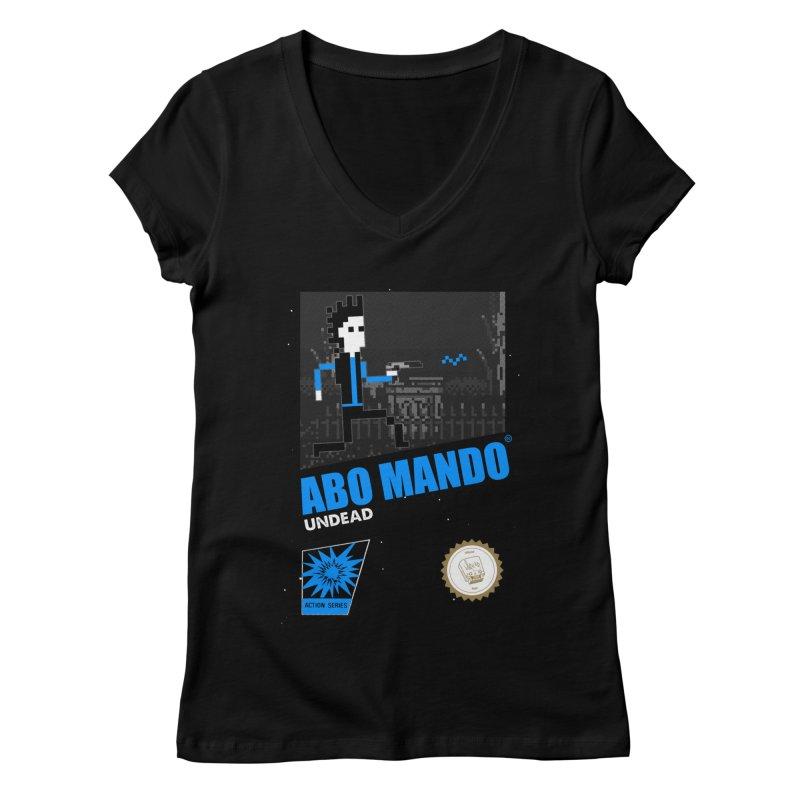 ABO MANDO Women's V-Neck by UNDEAD MISTER