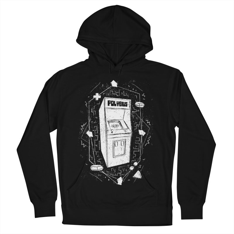 POLYBIUS Men's French Terry Pullover Hoody by UNDEAD MISTER