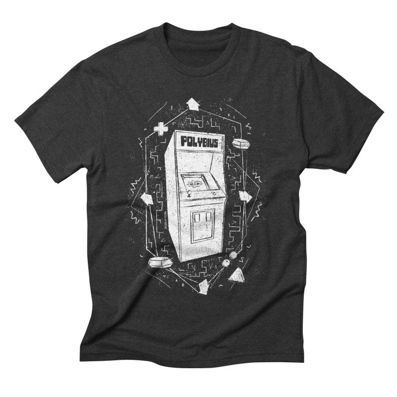 POLYBIUS Men's Triblend T-Shirt by UNDEAD MISTER