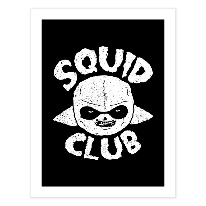 Squid Club Home Fine Art Print by UNDEAD MISTER