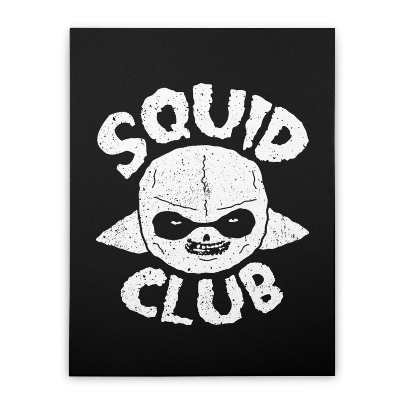 Squid Club Home Stretched Canvas by UNDEAD MISTER