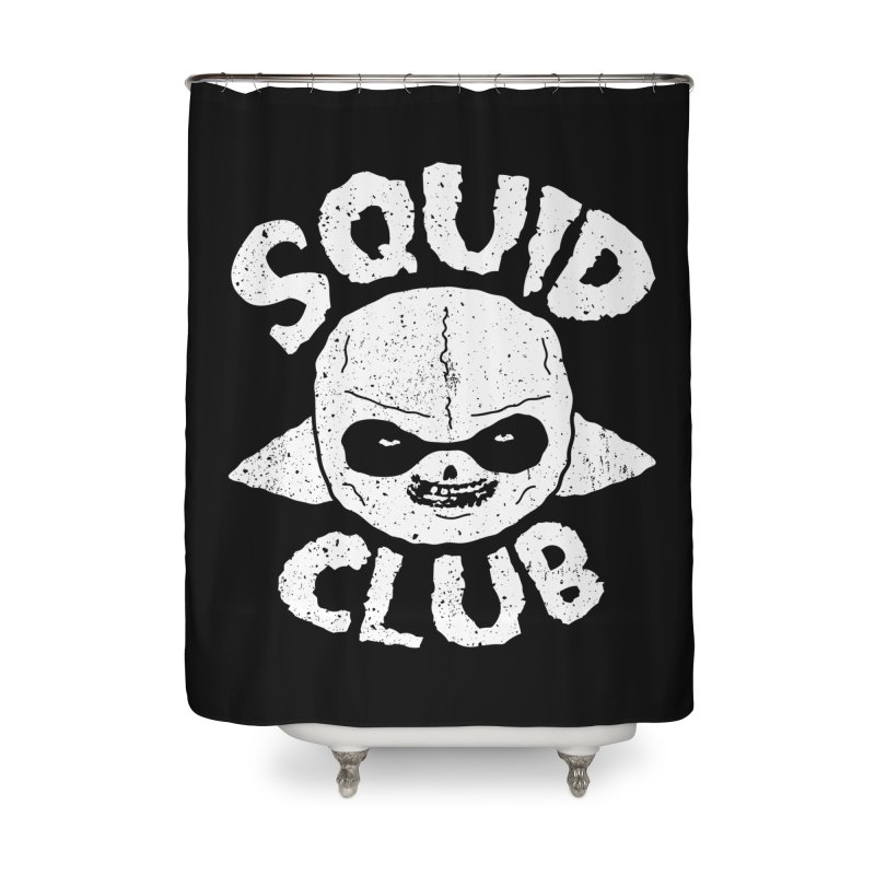Squid Club Home Shower Curtain by UNDEAD MISTER