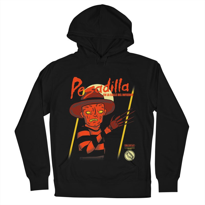 PESADILLA EN LA CALLE DEL INFIERNO Men's French Terry Pullover Hoody by UNDEAD MISTER