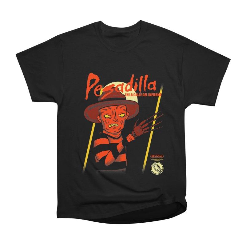 PESADILLA EN LA CALLE DEL INFIERNO Women's Heavyweight Unisex T-Shirt by UNDEAD MISTER