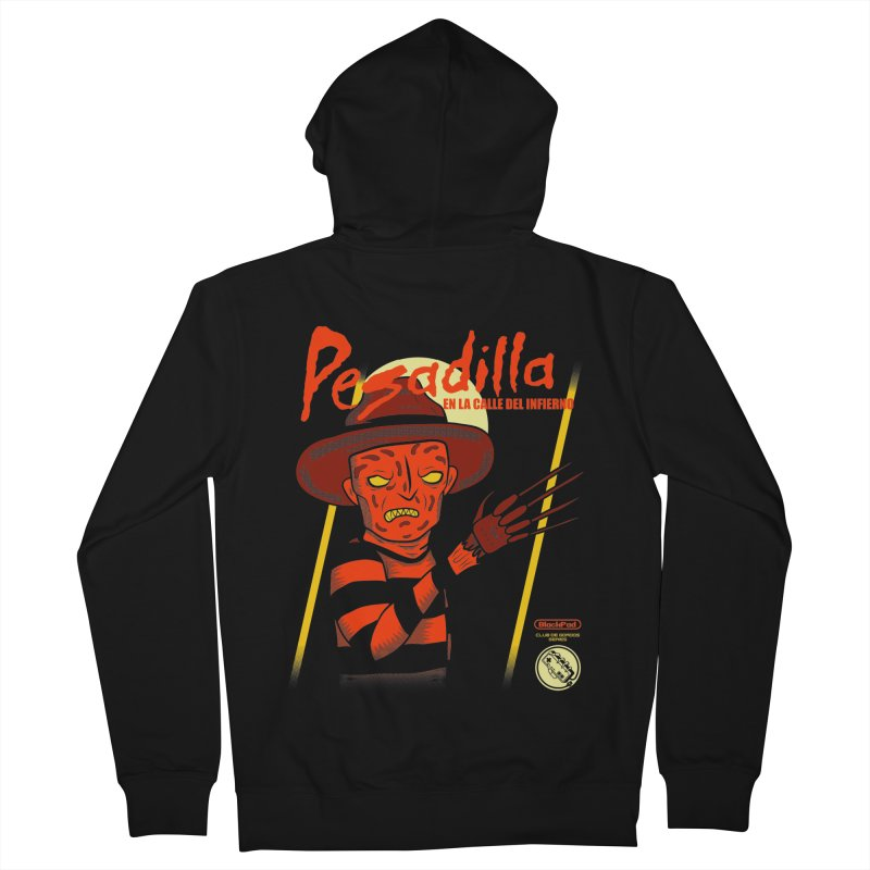PESADILLA EN LA CALLE DEL INFIERNO Men's French Terry Zip-Up Hoody by UNDEAD MISTER