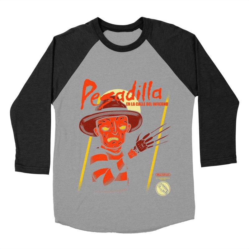 PESADILLA EN LA CALLE DEL INFIERNO Women's Baseball Triblend Longsleeve T-Shirt by UNDEAD MISTER