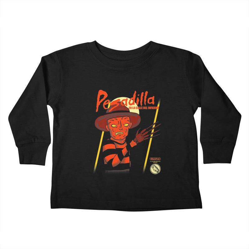PESADILLA EN LA CALLE DEL INFIERNO Kids Toddler Longsleeve T-Shirt by UNDEAD MISTER