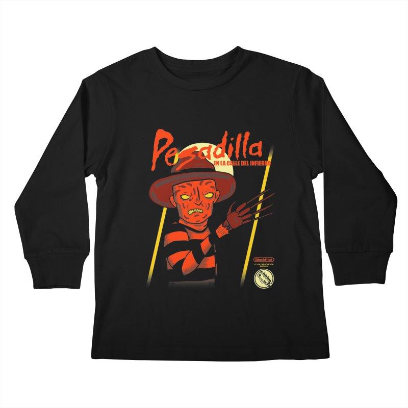 PESADILLA EN LA CALLE DEL INFIERNO Kids Longsleeve T-Shirt by UNDEAD MISTER