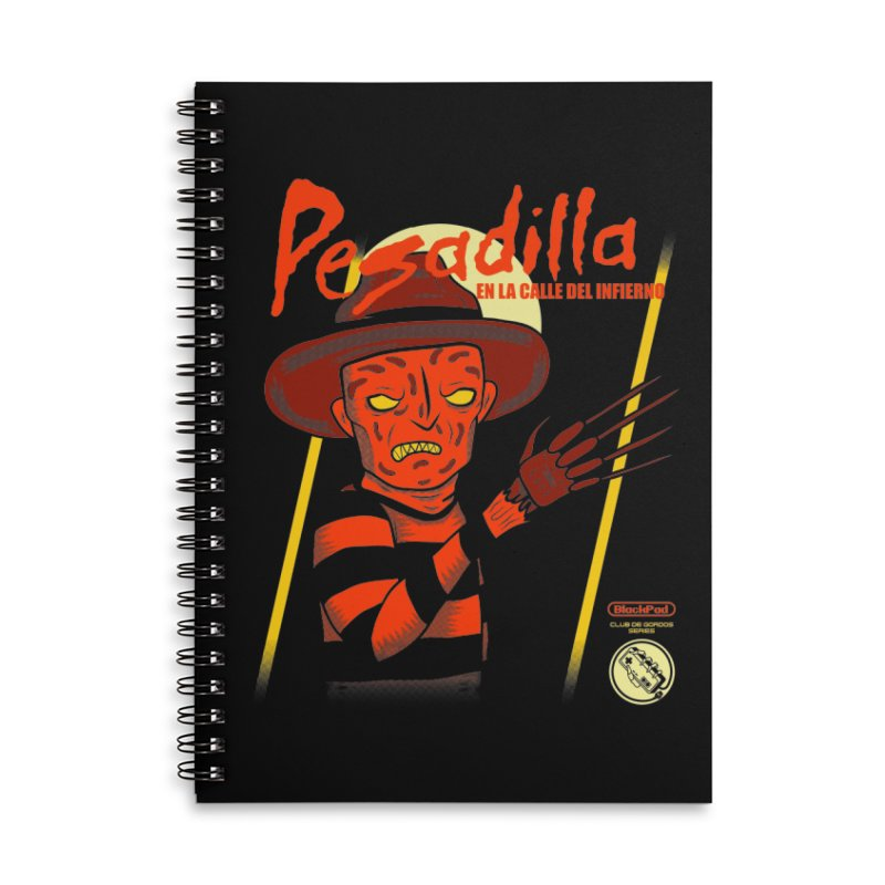 PESADILLA EN LA CALLE DEL INFIERNO Accessories Lined Spiral Notebook by UNDEAD MISTER