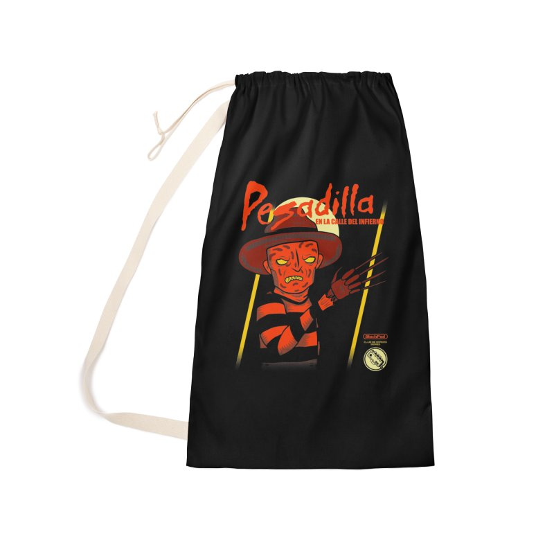 PESADILLA EN LA CALLE DEL INFIERNO Accessories Laundry Bag Bag by UNDEAD MISTER
