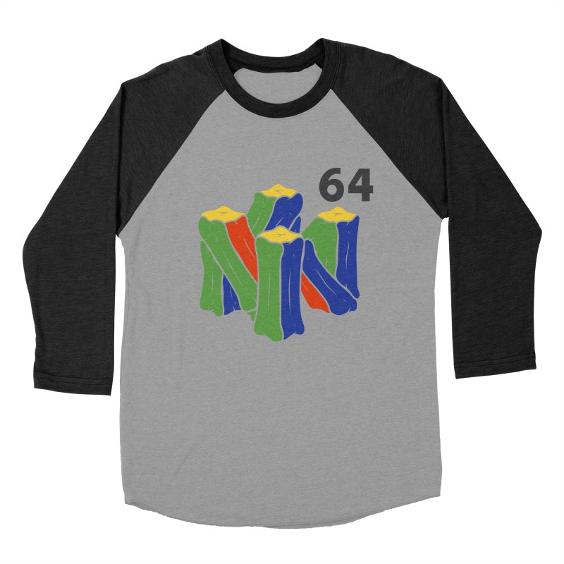 HCKD_N64 Women's Baseball Triblend Longsleeve T-Shirt by UNDEAD MISTER