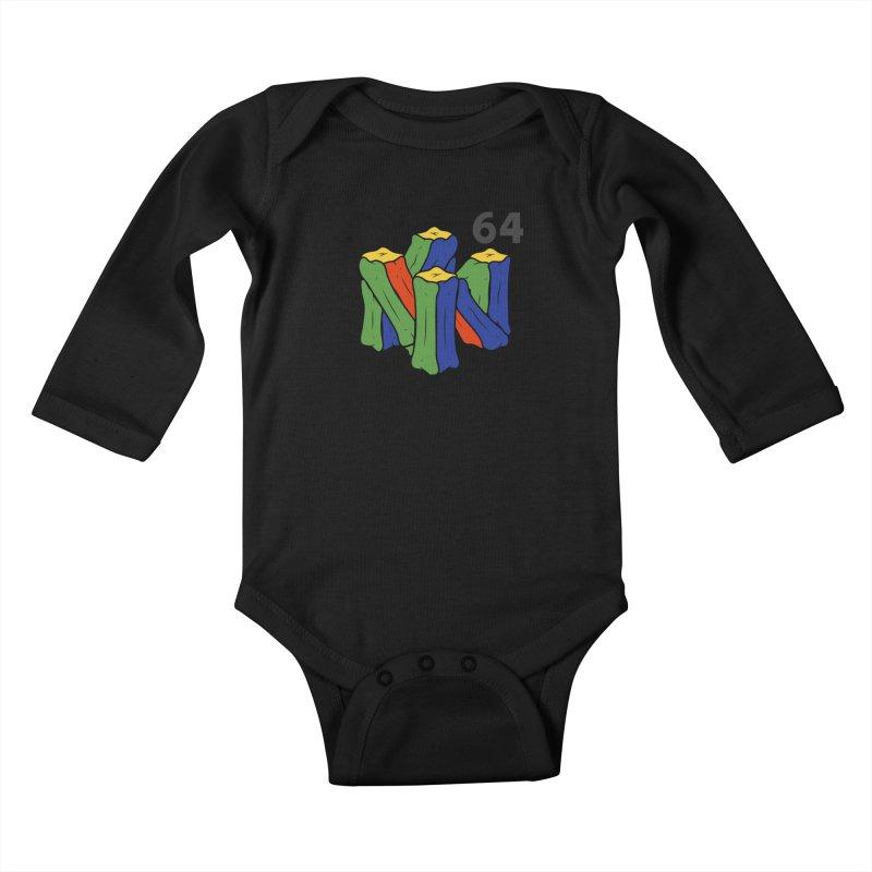 HCKD_N64 Kids Baby Longsleeve Bodysuit by UNDEAD MISTER