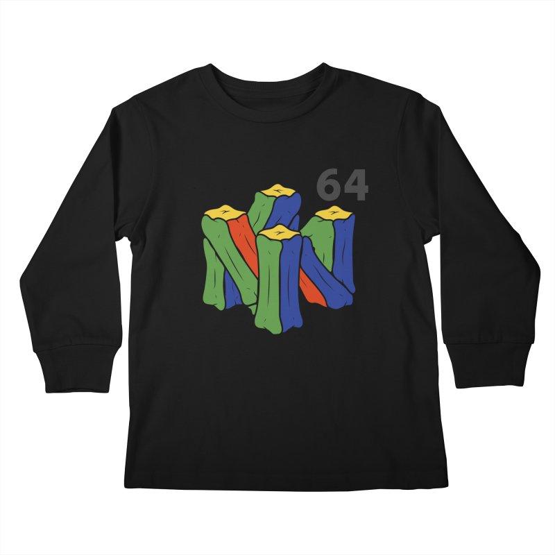 HCKD_N64 Kids Longsleeve T-Shirt by UNDEAD MISTER