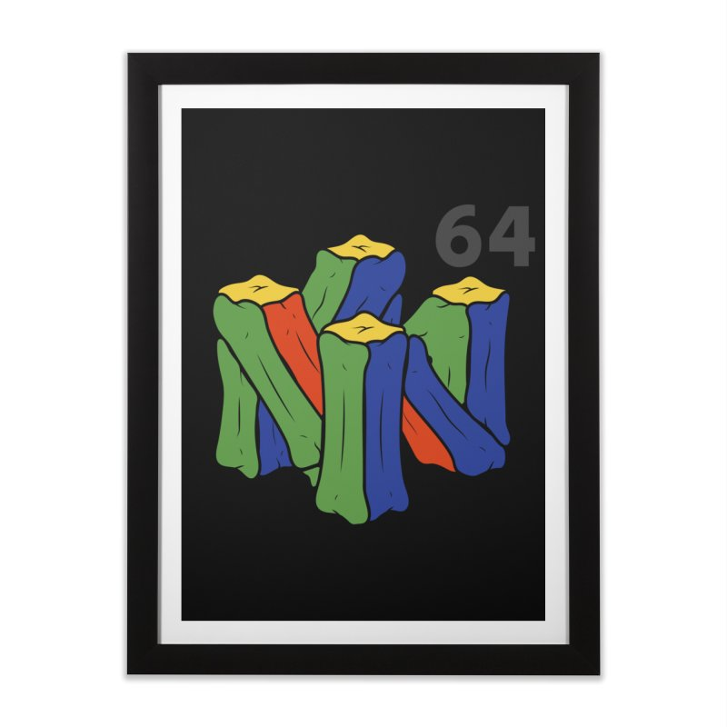 HCKD_N64 Home Framed Fine Art Print by UNDEAD MISTER