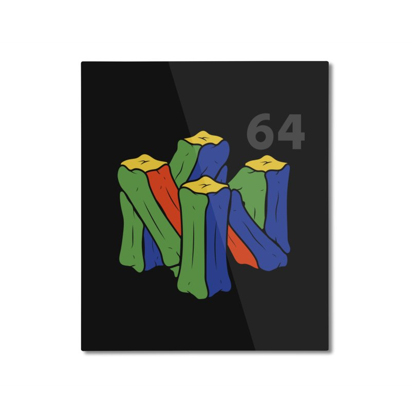 HCKD_N64 Home Mounted Aluminum Print by UNDEAD MISTER