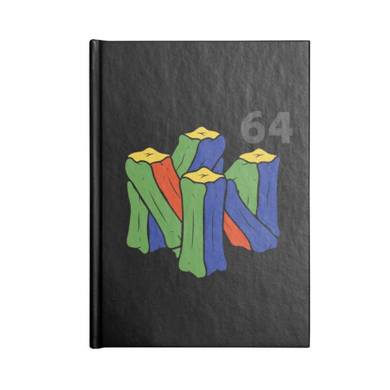 HCKD_N64 Accessories Lined Journal Notebook by UNDEAD MISTER