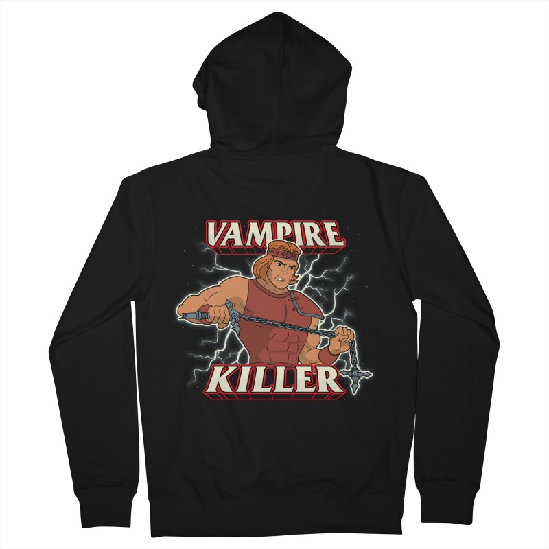 VAMPIRE KILLER Men's French Terry Zip-Up Hoody by UNDEAD MISTER