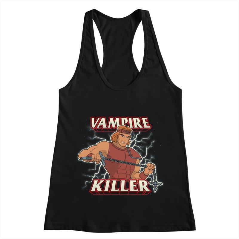 VAMPIRE KILLER Women's Racerback Tank by UNDEAD MISTER