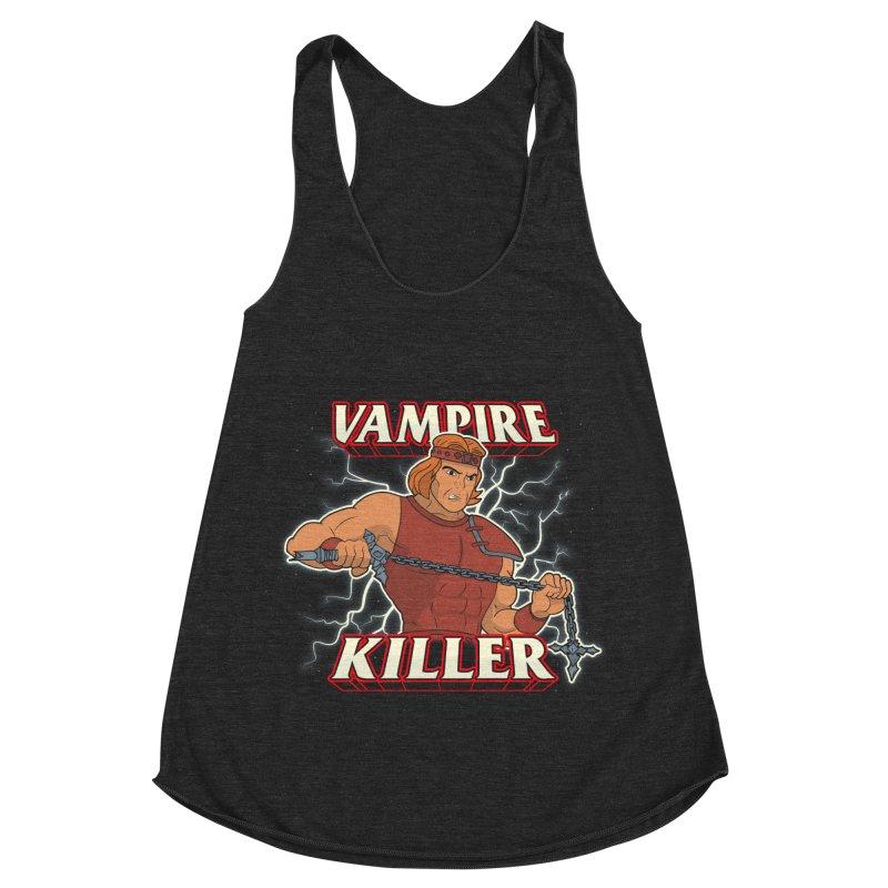 VAMPIRE KILLER Women's Racerback Triblend Tank by UNDEAD MISTER