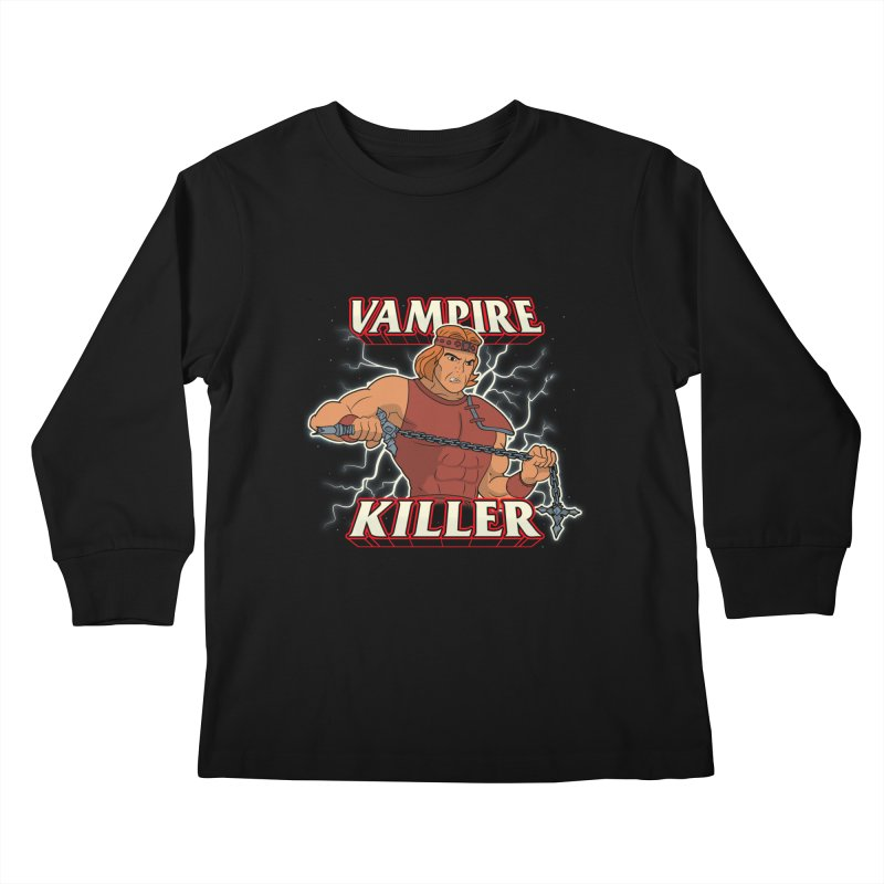 VAMPIRE KILLER Kids Longsleeve T-Shirt by UNDEAD MISTER
